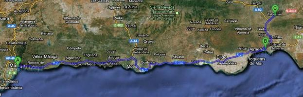Malaga, Almeria, Tabernas Route